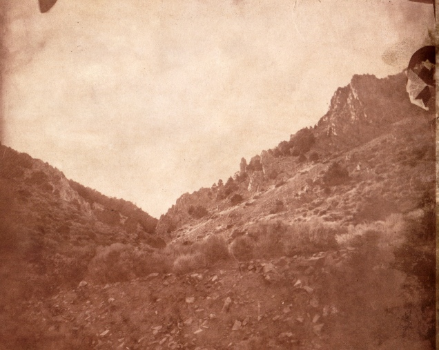 Mt Davidson, Virginia City 8 x 10 Albumen print