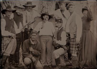 Comstock Civil War Reenactors 5x7 tintype June 26 2015